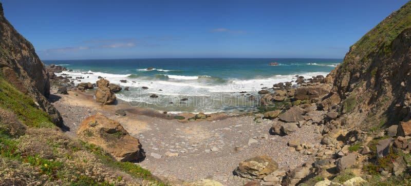 Malhada do Cedouro Beach, Cabo da Roca stock photography