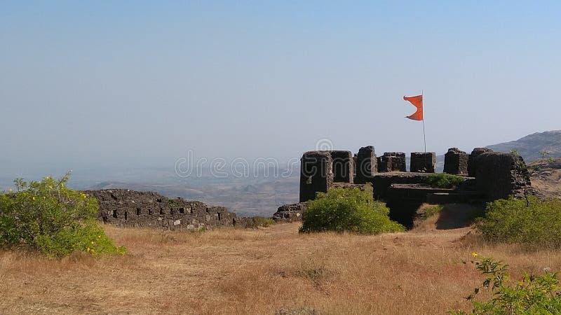 Malhar Gadh Ulubiony fort w India obraz stock