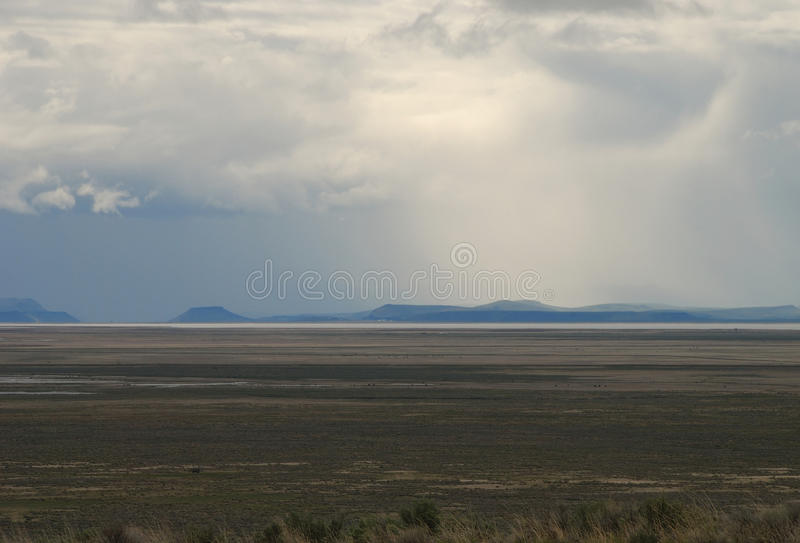 Malheur. National Wildlife Refuge and a late spring storm from State Hwy 205 near Burns OR royalty free stock photos