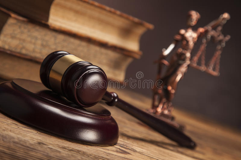Malho de justiça! fotografia de stock