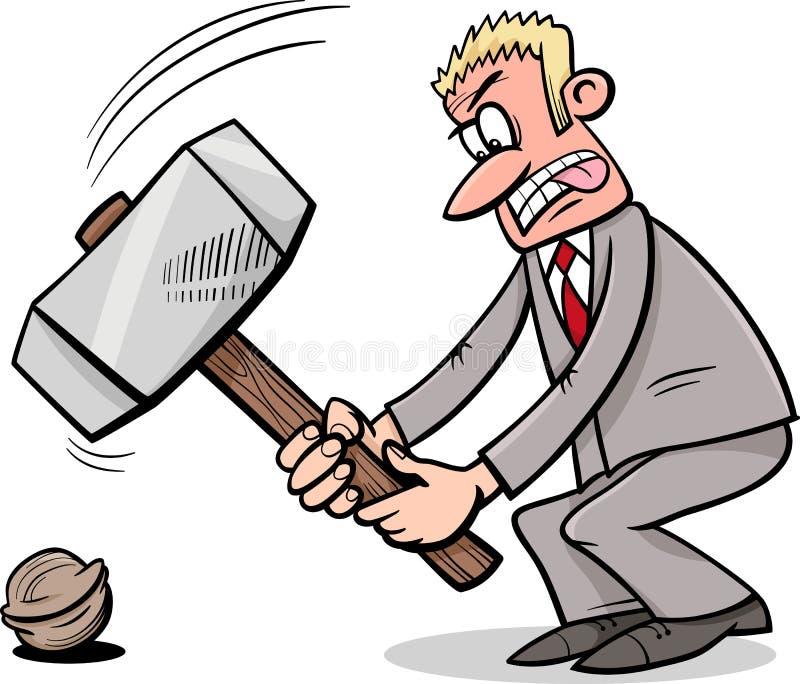 Malho para rachar uma porca ilustração do vetor
