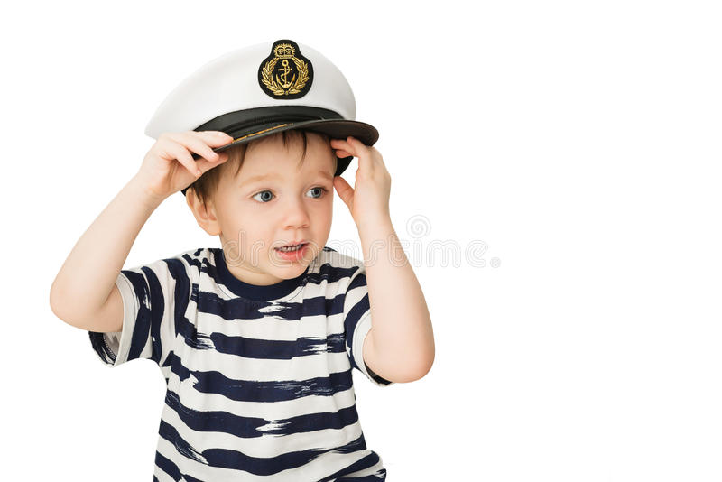 Mali żeglarzów utrzymania fotografia royalty free