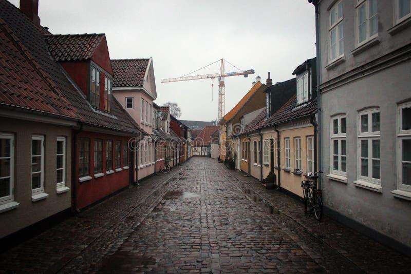 Mali cosy domy w Odense, Dani zdjęcia royalty free