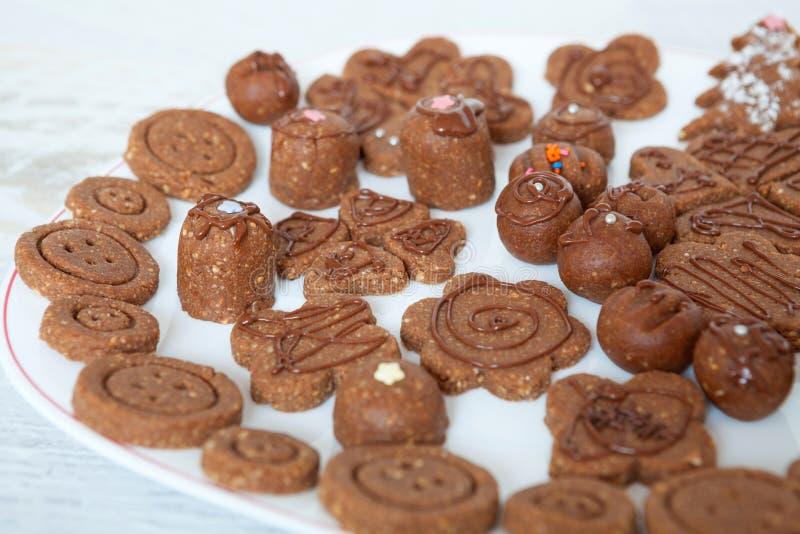 Mali czekoladowi desery fotografia royalty free