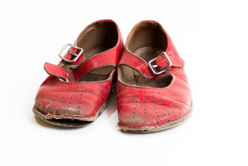 mali czerwoni buty obraz royalty free