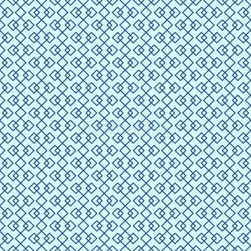 Mali diamentowi kształty w bezszwowym linia wzorze, abstrakcjonistyczny geometryczny tło royalty ilustracja