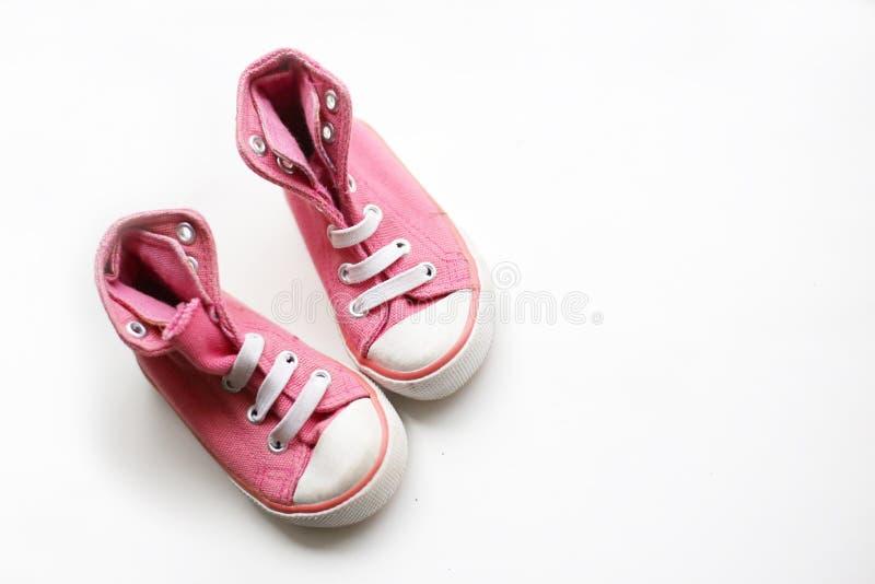 Mali dziewczynka buty zdjęcie royalty free