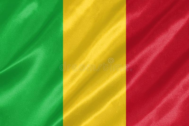 Mali Flag stock abbildung