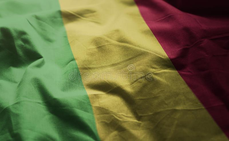Mali Flag Rumpled Close Up fotos de archivo libres de regalías