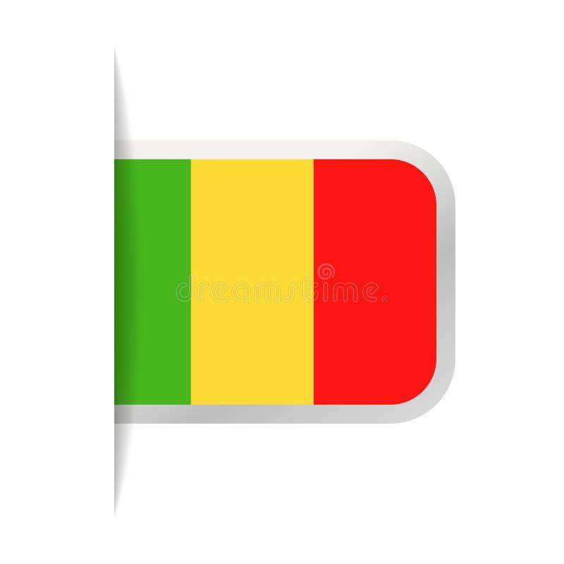Mali Flag Vector Bookmark Icon libre illustration