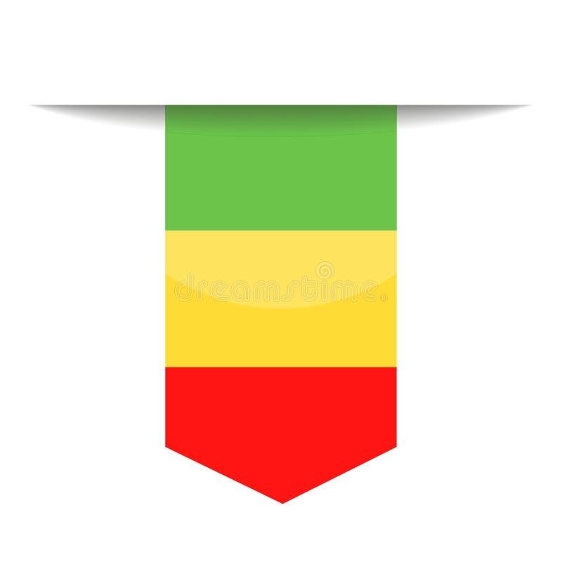 Mali Flag Vector Bookmark Icon ilustración del vector