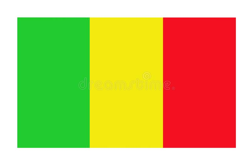 Mali flagga på kanfas patriotisk bakgrund Nationsflagga av Mali royaltyfri illustrationer