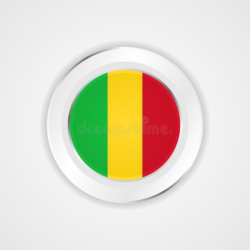 Mali-Flagge in der glatten Ikone lizenzfreie abbildung