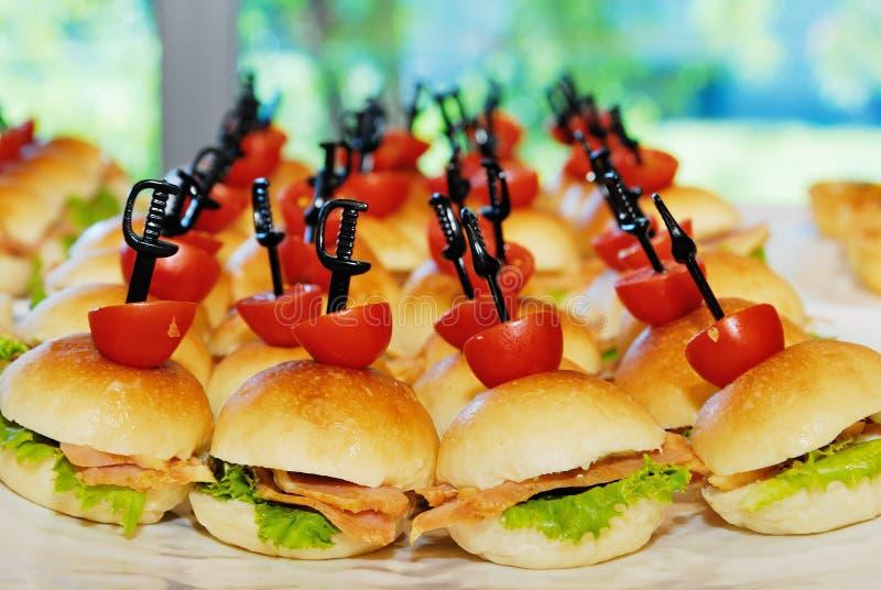 Mali hamburgery zdjęcie stock