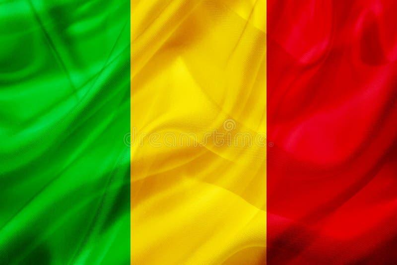 Mali kraju flaga na jedwabniczej lub silky falowanie teksturze ilustracji