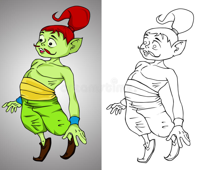Mali krasnoludków jinn royalty ilustracja
