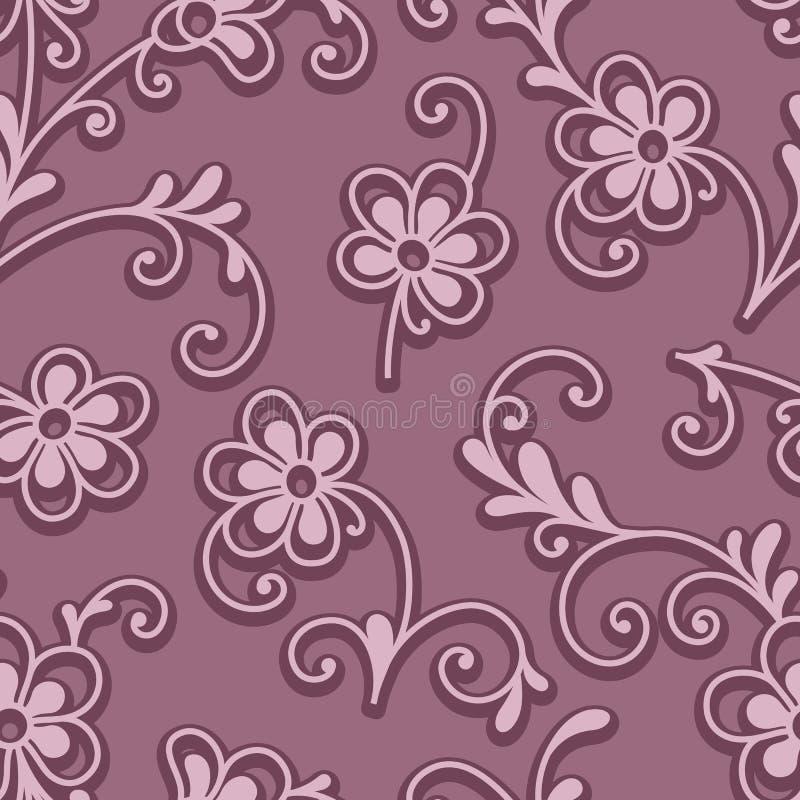 Mali kwiaty, bezszwowy kwiecisty wzór ilustracja wektor