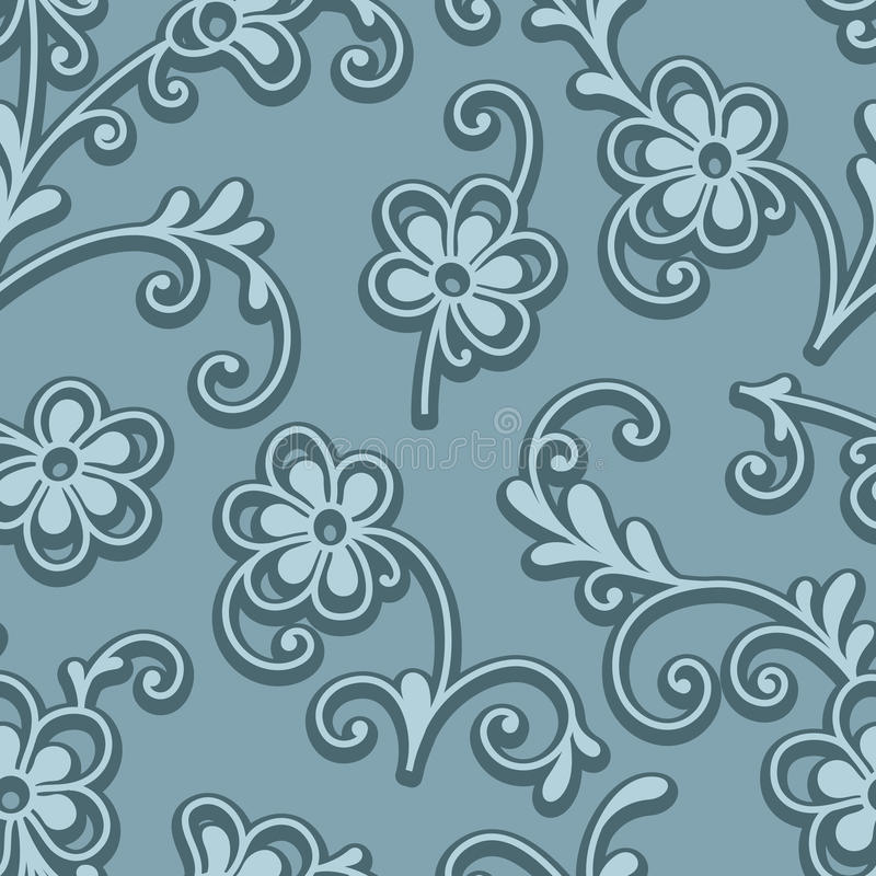 Mali kwiaty, bezszwowy kwiecisty wzór ilustracji