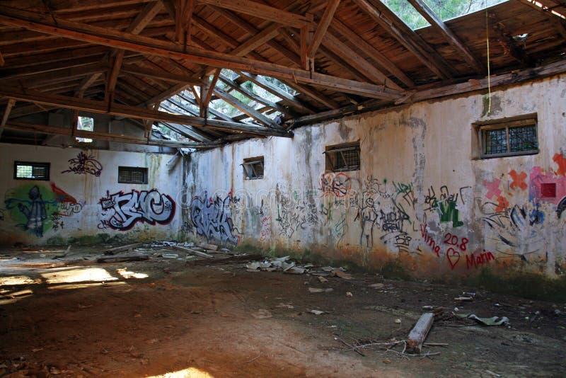Mali Losinj,Croatia,demolished former JNA army depots,2. Mali Losinj Croatia,Adriatic coast,Europe,demolished former JNA army depots,2 royalty free stock photography