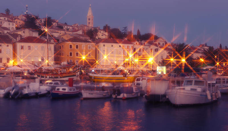 Download Mali Losinj Island Town In The Evening Stock Photo - Image: 27125268