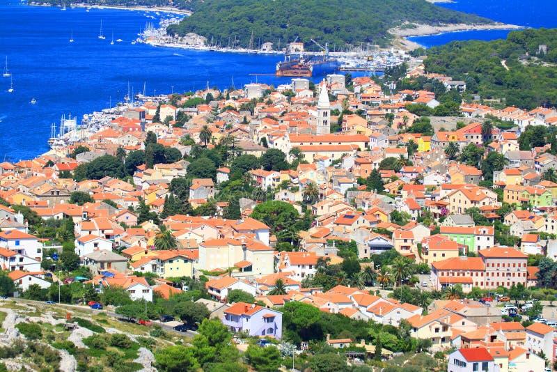 Mali Losinj, mer Adriatique, Croatie photos stock