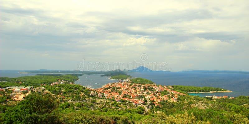 Mali Losinj, mer Adriatique, Croatie image stock