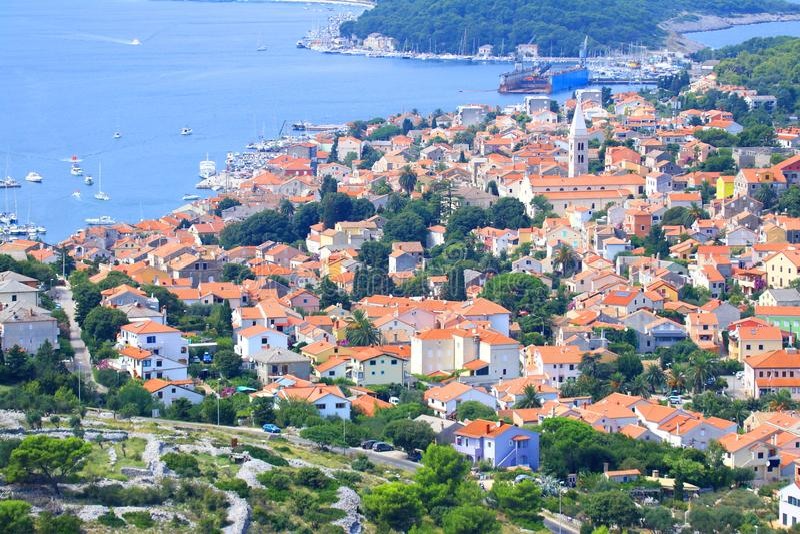 Mali Losinj, mer Adriatique, Croatie image libre de droits