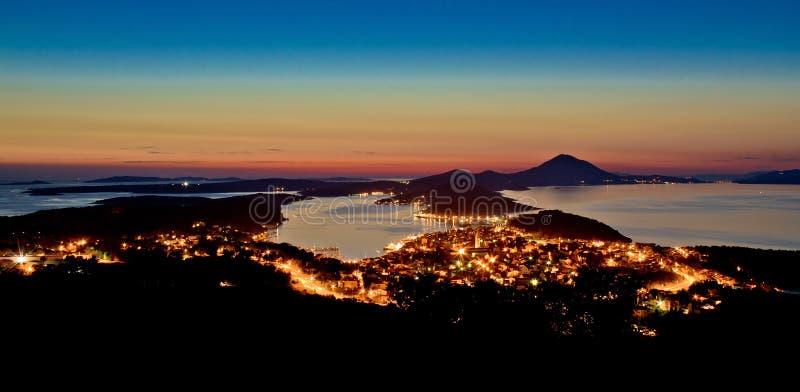 Mali Losinj, opinião panorâmico de Croatia imagem de stock