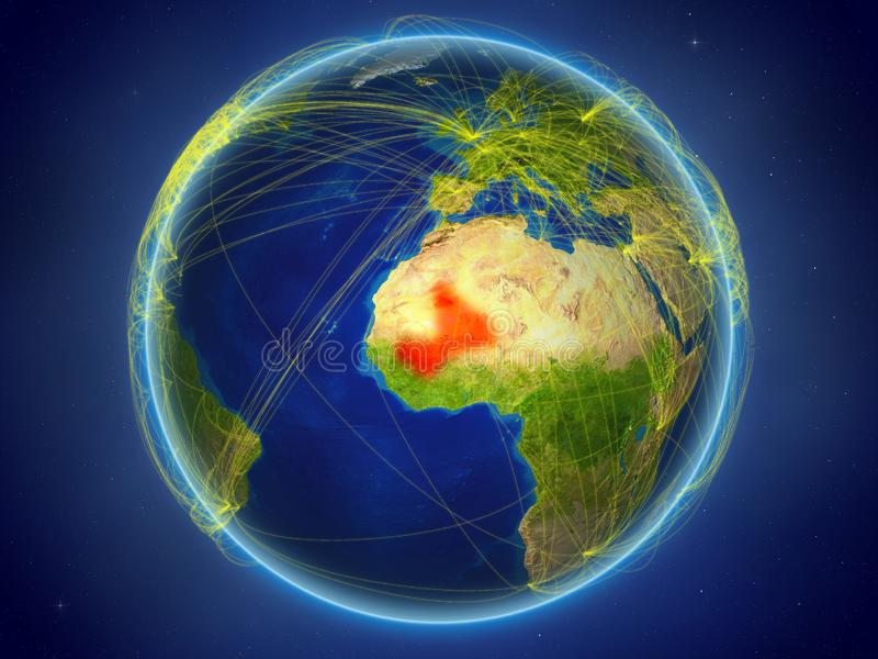 Mali på jord med nätverk arkivbilder
