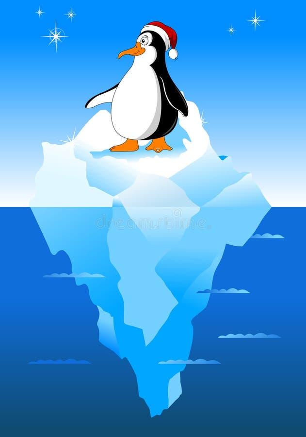 Mali pingwinów boże narodzenia ilustracja wektor
