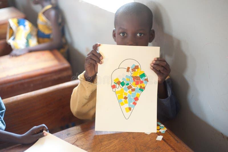 Mali - retrato do close up de um estudante preto masculino fotografia de stock royalty free