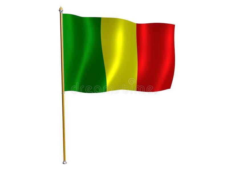 Mali silk flag royalty free illustration