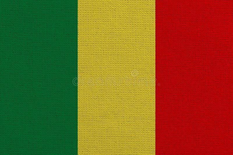 Mali-Stoffflagge stockfotografie
