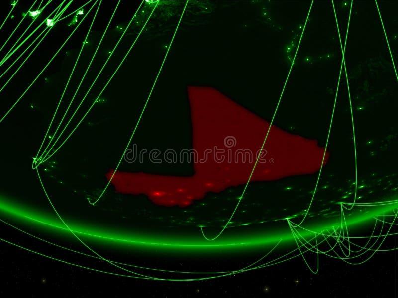 Mali van ruimte met netwerk royalty-vrije stock fotografie