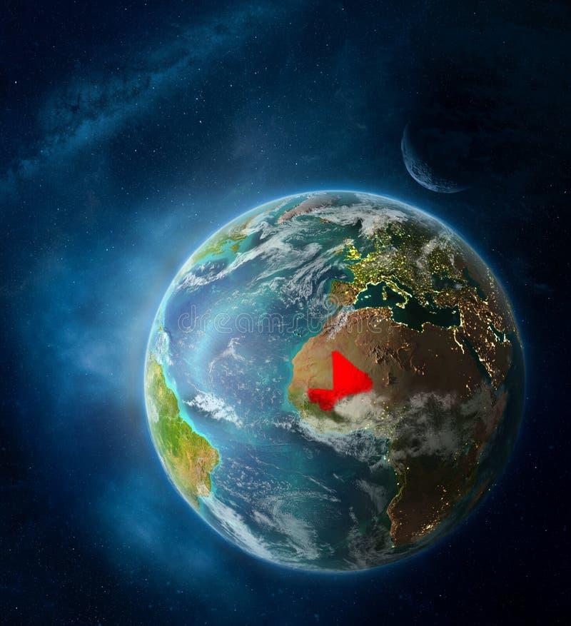 Mali vom Raum auf Planet Erde stockfotos