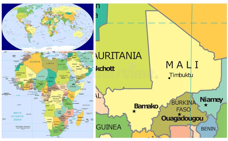 Mali World stock illustration Illustration of burkina 83438064