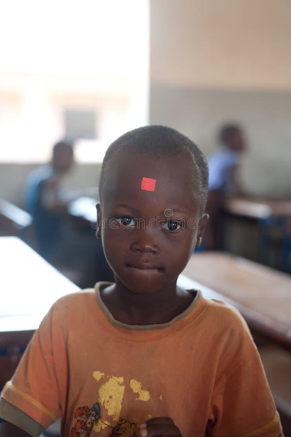 Mali - zbliżenia męski czarny uczeń portret zdjęcia royalty free