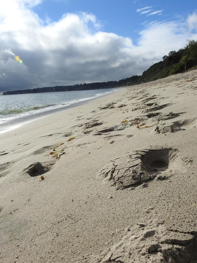 Malibu海滩 免版税图库摄影