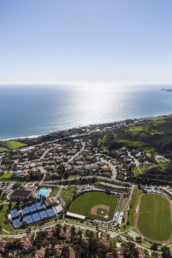 Malibu Afternoon Aerial royalty free stock image