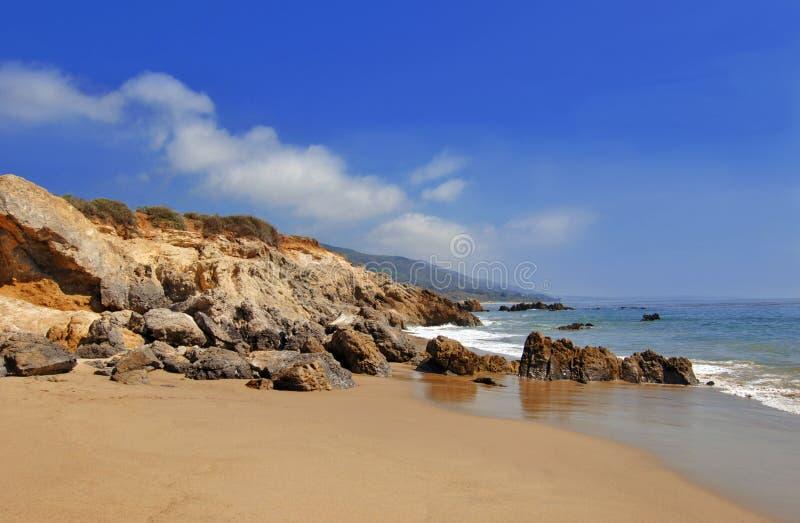 malibu california пляжа утесистое стоковое изображение