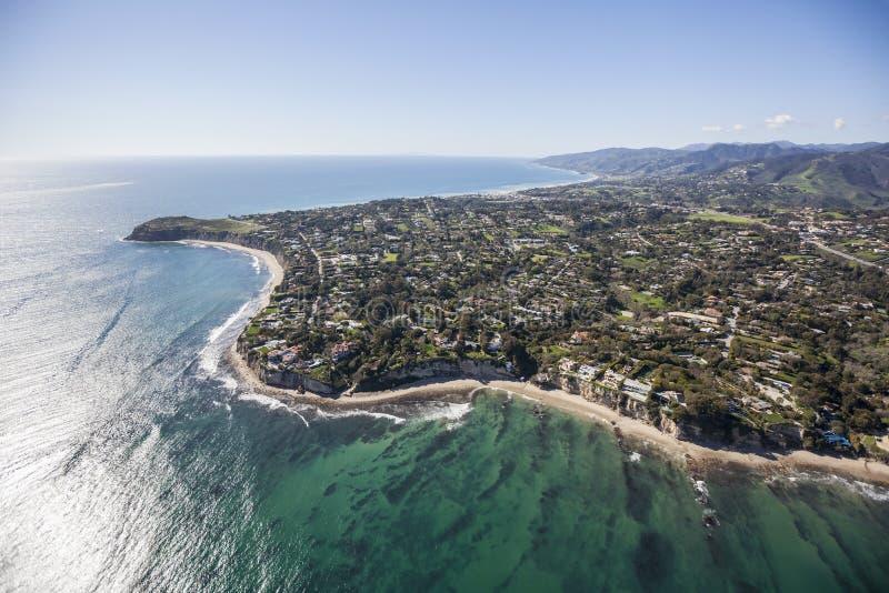 Malibu California Aerial royalty free stock images