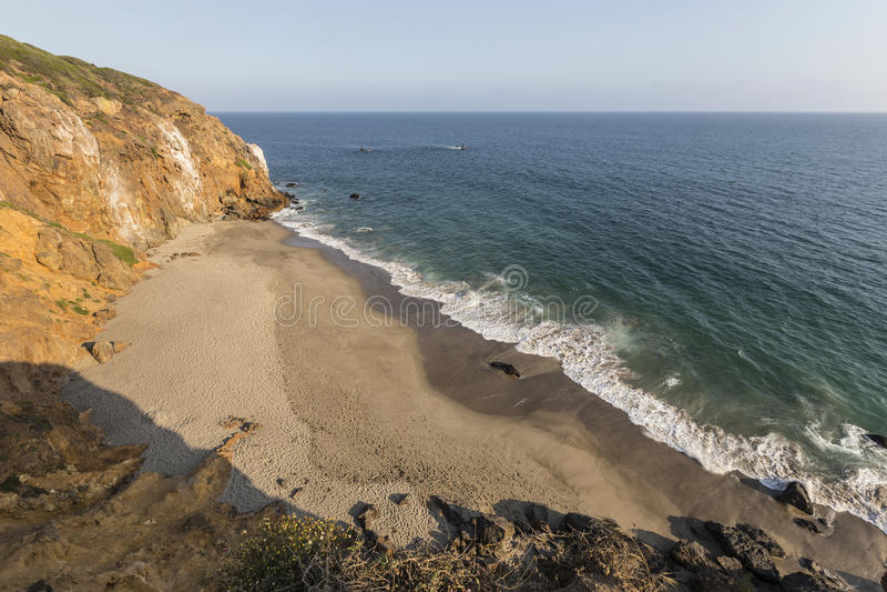 Malibu California Pirates Cove Overlook royalty free stock photo