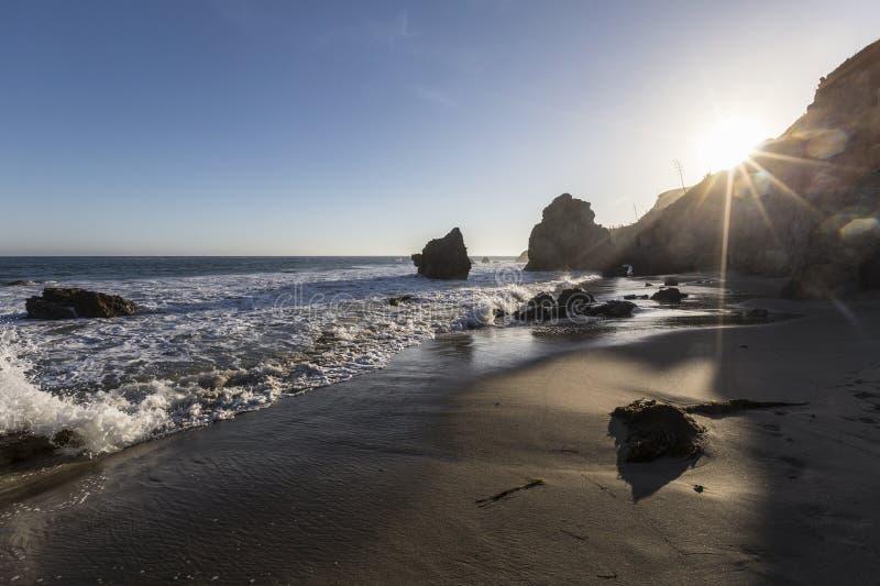 Malibu Kalifornien El matador State Beach royaltyfria foton