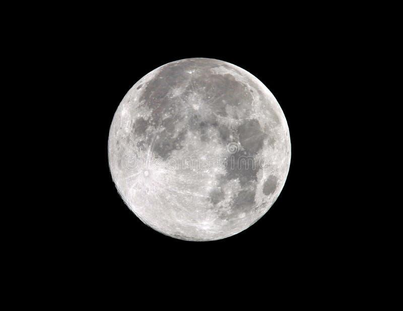 Malibu lleno del marco de la luna de cosecha, California 2011 foto de archivo libre de regalías