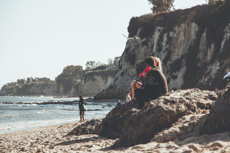 Malibu Love Story rom?ntico fotografía de archivo libre de regalías