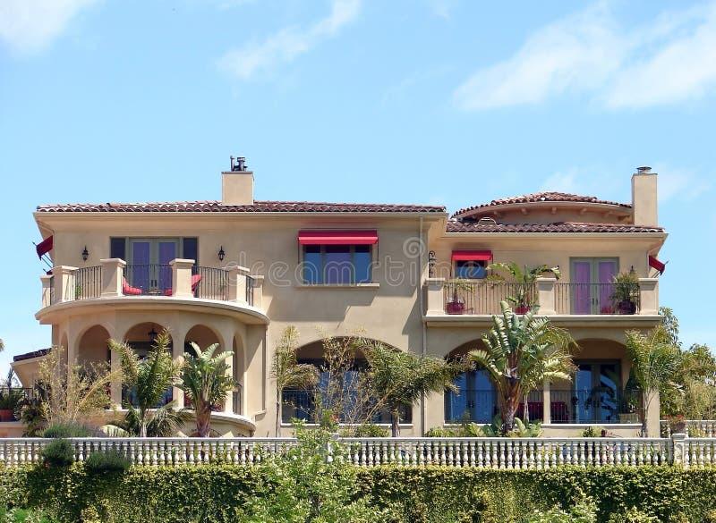 Malibu Mansion. A beautiful home set on a hill in Malibu, CA stock images