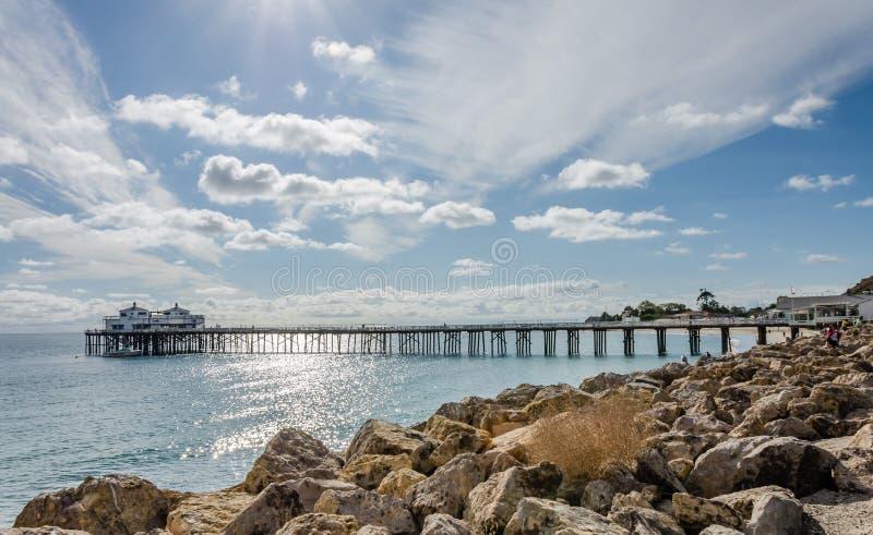 Malibu Pier, California, USA. This is Malibu Pier in California stock image