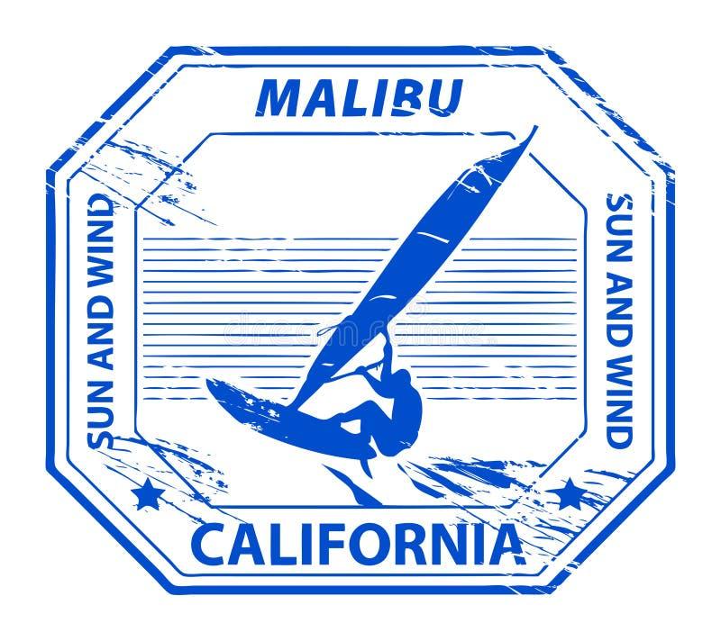Malibu, selo de Califórnia ilustração royalty free