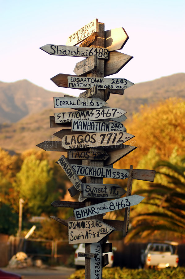 Free Malibu Signpost Royalty Free Stock Photography - 40917