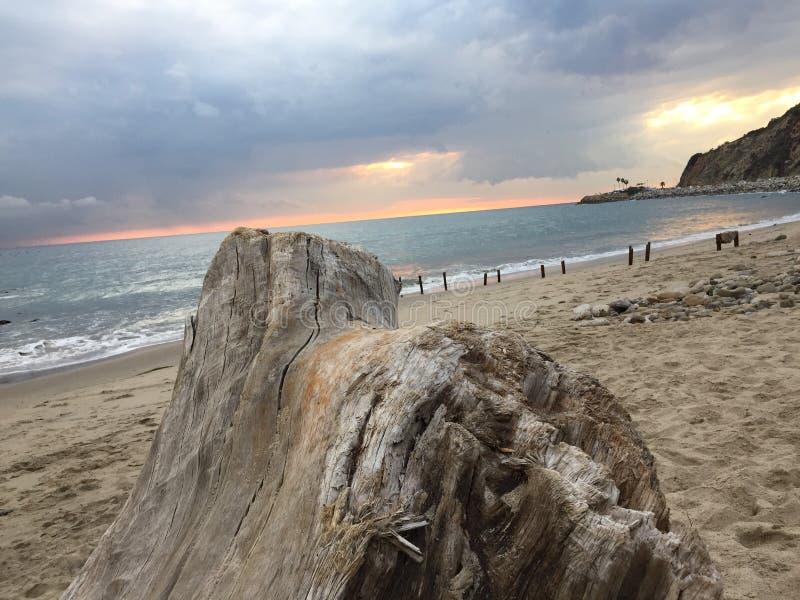 Malibu solnedgång arkivbild